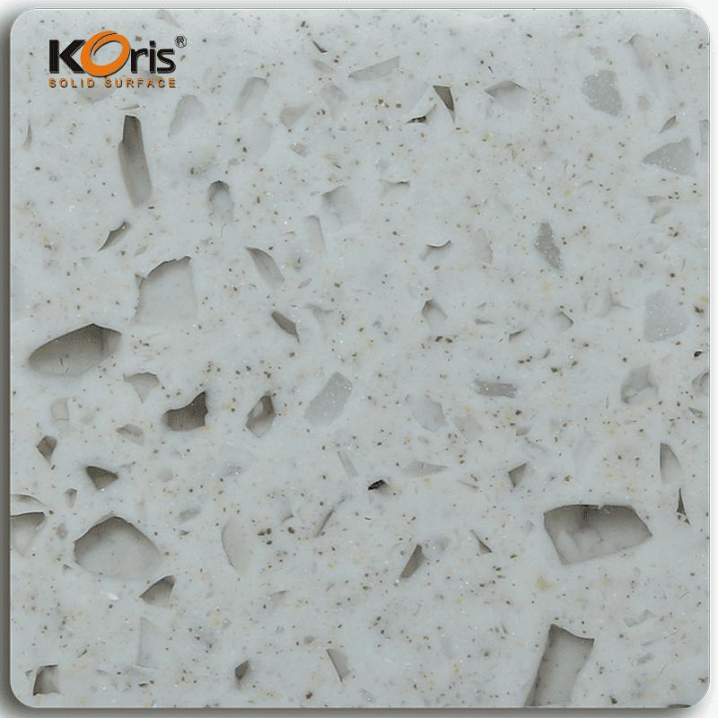 Koris Amber Series Pure Acrylic Solid Surface Marble Sheet MA20016