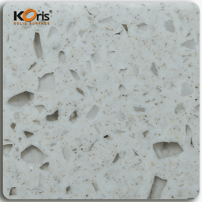 Koris Amber Series Pure Acrylic Solid Surface Marble Sheet MA20016