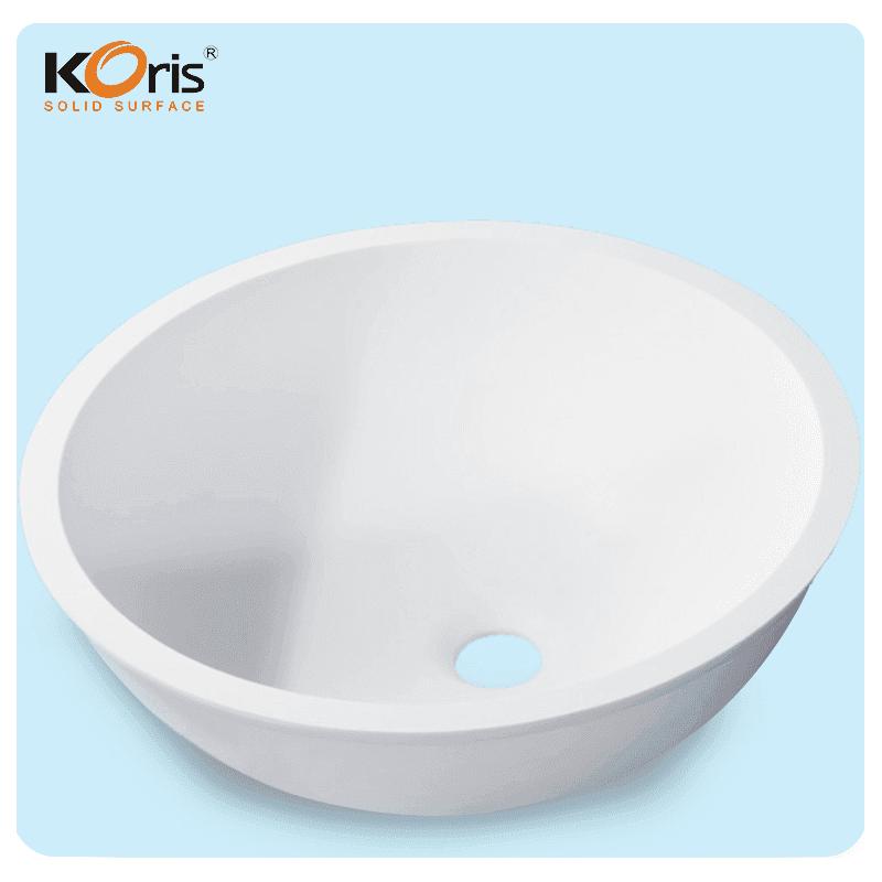 Counter Top Resin Washbasin Acrylic Bathroom Sink WB107