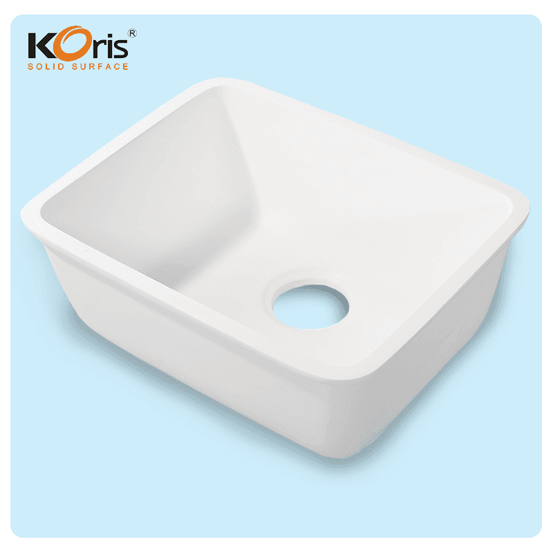 High Quality Customized White Acrylic Kitchen Sink  KS 102 For Wash