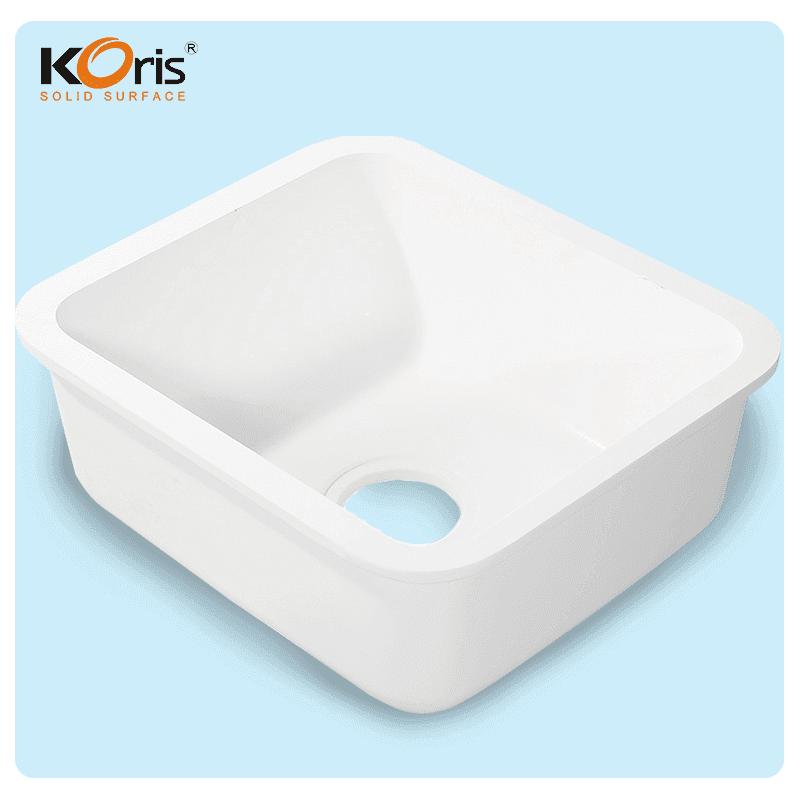 High Quality Customized White Acrylic Kitchen Sink  KS 102 For Wash