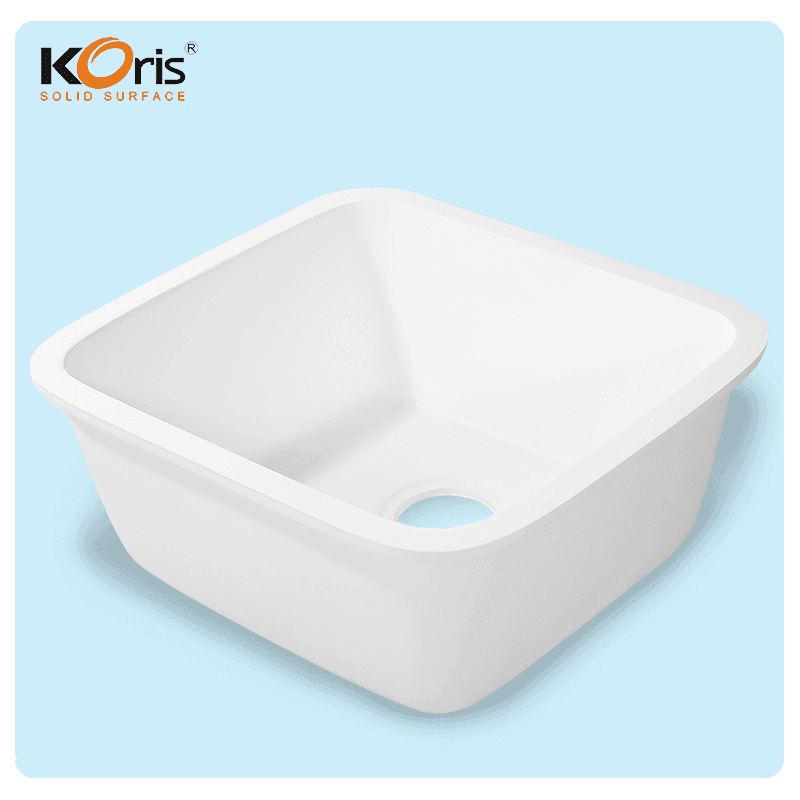 Cheap Ivory Stone Acrylic Kitchen Sink One Bowl KS 102