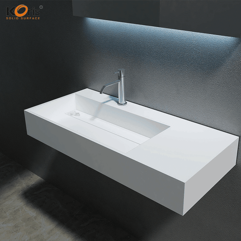 Commercial Acrylic Solid Surface Bathroom Wash Sink WB2015