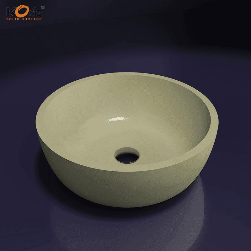 Bathroom Ceramic Art Sink Round Shaped Wash Basin WB2052