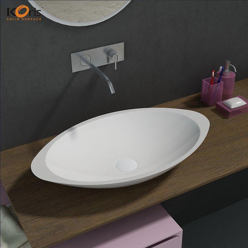 Cheap Acrylic Solid Surface  Bathroom Wash Sink WB2057