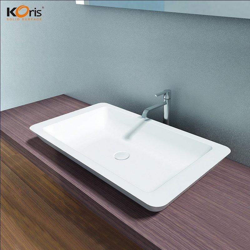 Rectangular Design White Ceramic Wash Basin WB2060