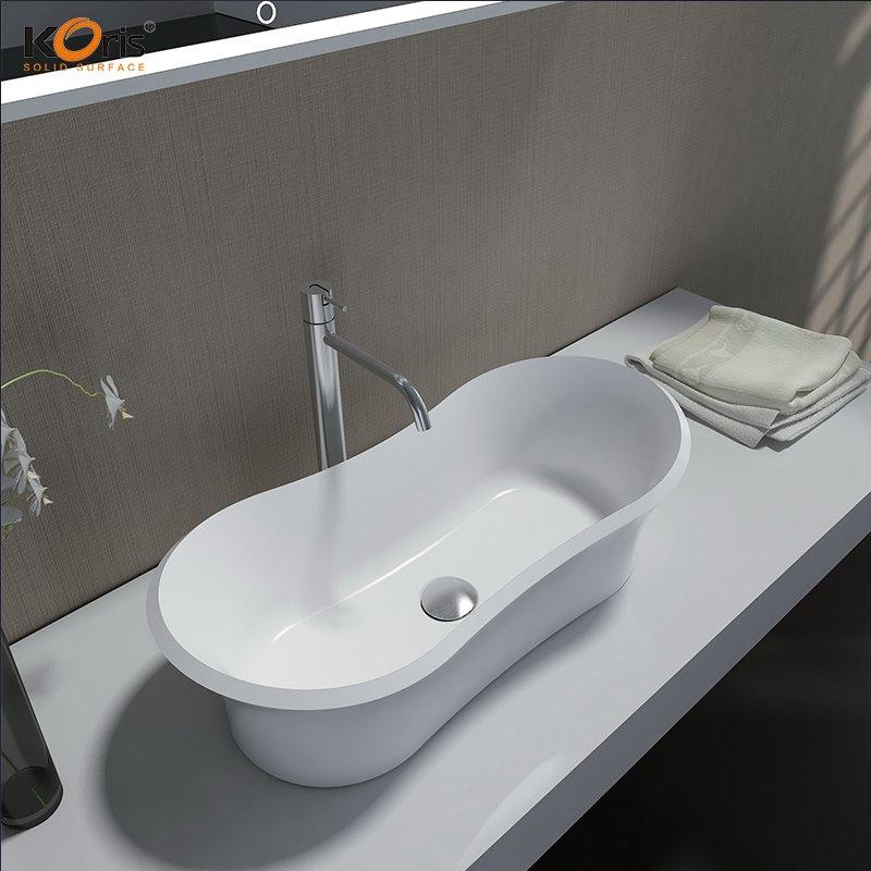 Acrylic Solid Surface Bathroom Wash Sink Wholesale WB2084