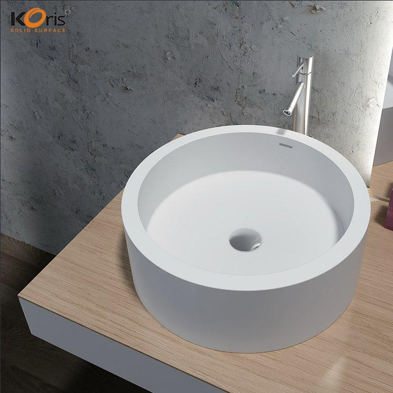 Acrylic Bathroom Wash Sink Solid Surface Toilet Basin WB2101