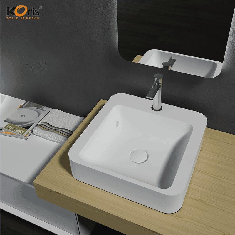Fashionable Acrylic Bathroom Wash Sink WB2061