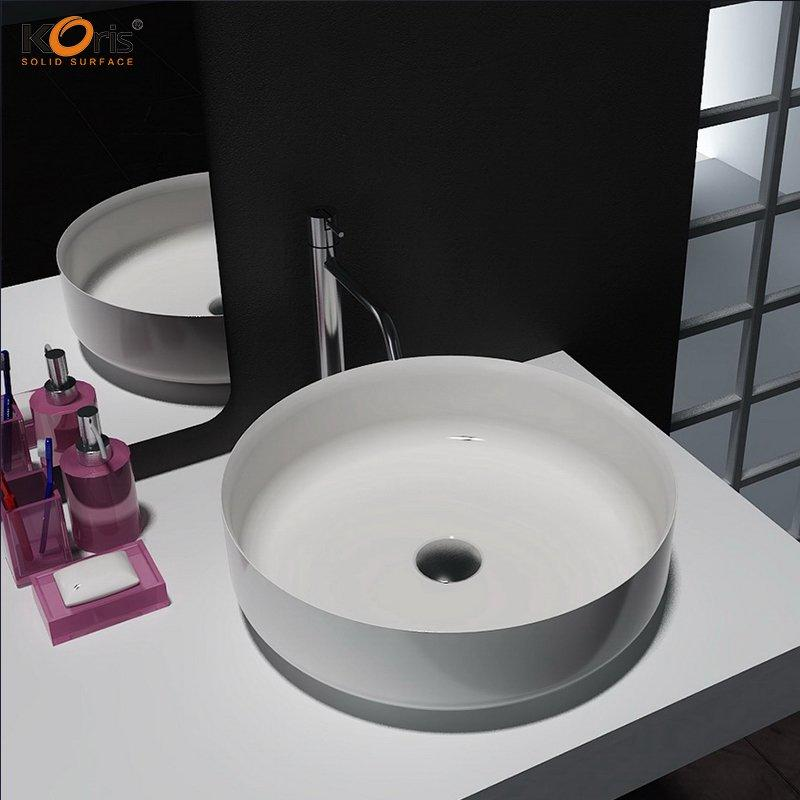 China Suppliers Customize Bathroom Acrylic Solid Surface Wash Basin WB2122