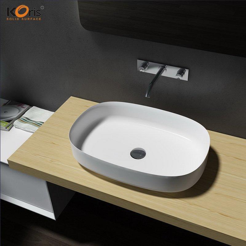 Acrylic Solid Surface Bathroom Wash Sink WB2123