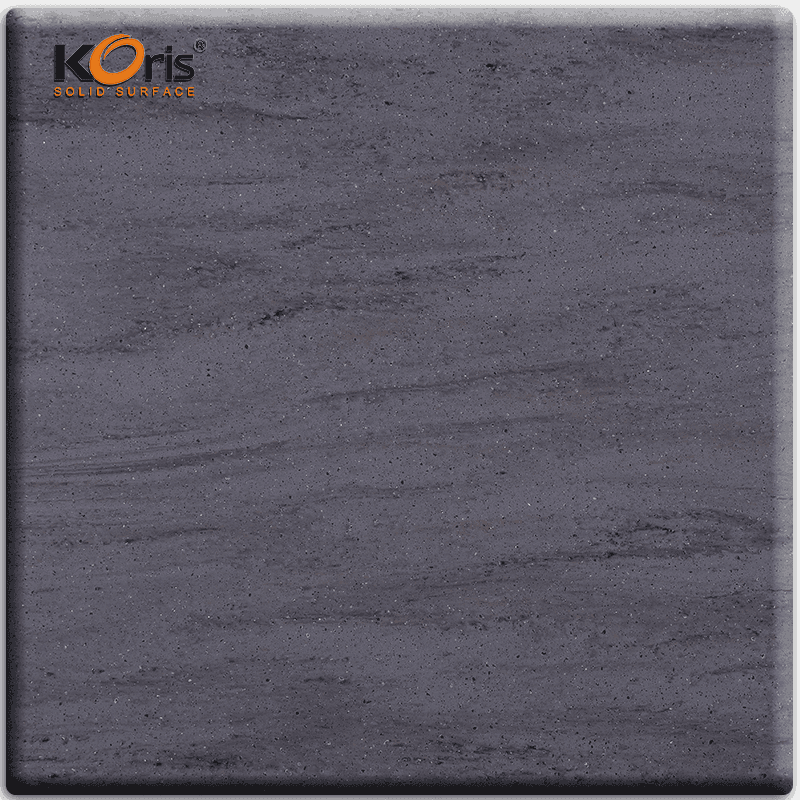 Koris Grey Color Artificial Marble Acrylic Solid Surface For Kitchen NW5832