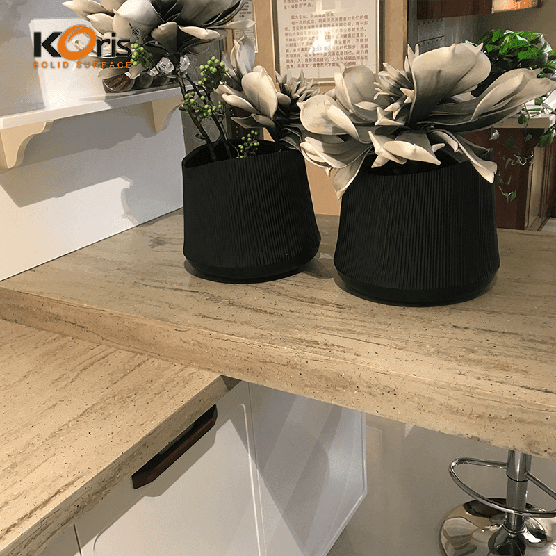 Koris Pure Acrylic Solid Surface For Countertop Artificial Marble NW5834