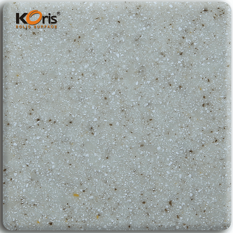 China Supplier Koris 6mm Artificial Stone Sands Modified Acrylic Solid Surface Sheets KA3307