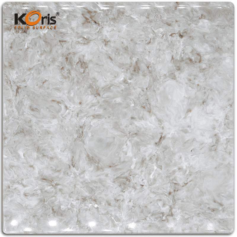 High Quality Koris Artificial Marble Stone 25mm Modified Acrylic Solid Surface HW3802