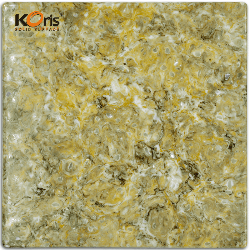 Hot Sale Koris 25mm Artificial Marble Solid Surface Stone Discount HW5802