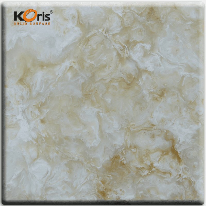 Faux Marble Solid Surface Shower Wall Panel Seamless Kitchen Tops HW3801