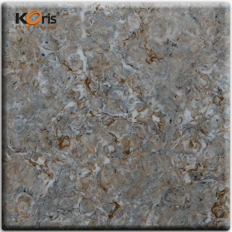 Pmma Resin Artificial Marble Solid Surface Slab Dining Tables HW3803